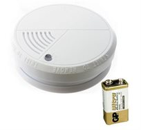 גלאי עשן עצמאי מבית HYUNDAI התקנה פשוטה בית ולמשרד ללא צורך בחשמלאי כולל סוללה 9V