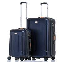 """JEEP MIAMI סט 2 מזוודות קשיחות 24"""" + 28"""" Navy Blue"""