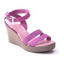 Crocs Leigh Wedge - נעלי עקב עם רצועות