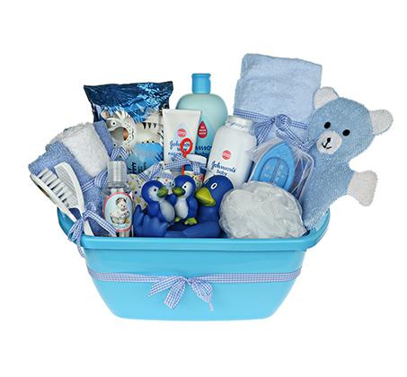 אמבטיית באבלס כחולה - מתנת לידה מקסימה ושימושית המורכבת ממוצרים איכותיים