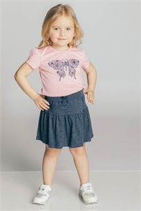 חצאית טריקו Kiwi לילדות במגוון צבעים לבחירה
