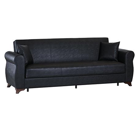 מערכת ישיבה לסלון נפתחת למיטה 3+2 עם ארגז מצעים וזוג כריות נוי מתנה דגם דאלאס LEONARDO - תמונה 4