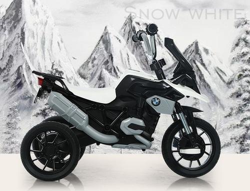 תלת אופן BMW R1200 GS עם גלגלי EVA ופדלים - לבן - משלוח חינם - תמונה 2