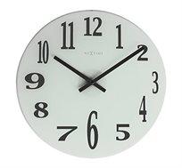 שעון קיר עשוי זכוכית וספרות באפקט מראה