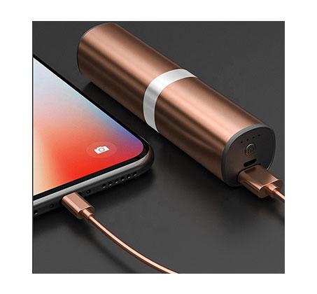 אוזניות כפתור סטריאו אלחוטיות TWS כולל מטען נייד מתאימות להאזנה למוזיקה ומענה לשיחות - דגם 2019 - תמונה 5