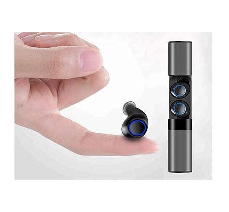 אוזניות כפתור סטריאו אלחוטיות TWS כולל מטען נייד מתאימות להאזנה למוזיקה ומענה לשיחות - דגם 2019 - תמונה 3