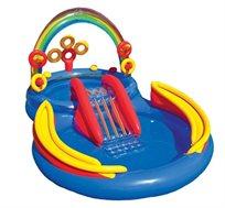 בריכת קשת לילדים INTEX הכוללת משחקים ומגלשת מים דגם 57453 - משלוח חינם