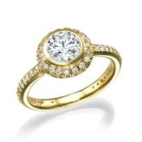 """טבעת יהלומים זהב צהוב """"אלכסנדרה"""" 1.82 קראט"""