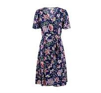 שמלה עם צווארון וי ב-2 צבעים לבחירה
