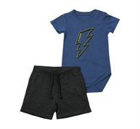 סט בגד גוף ומכנסיים Minene לתינוקות בצבע כחול