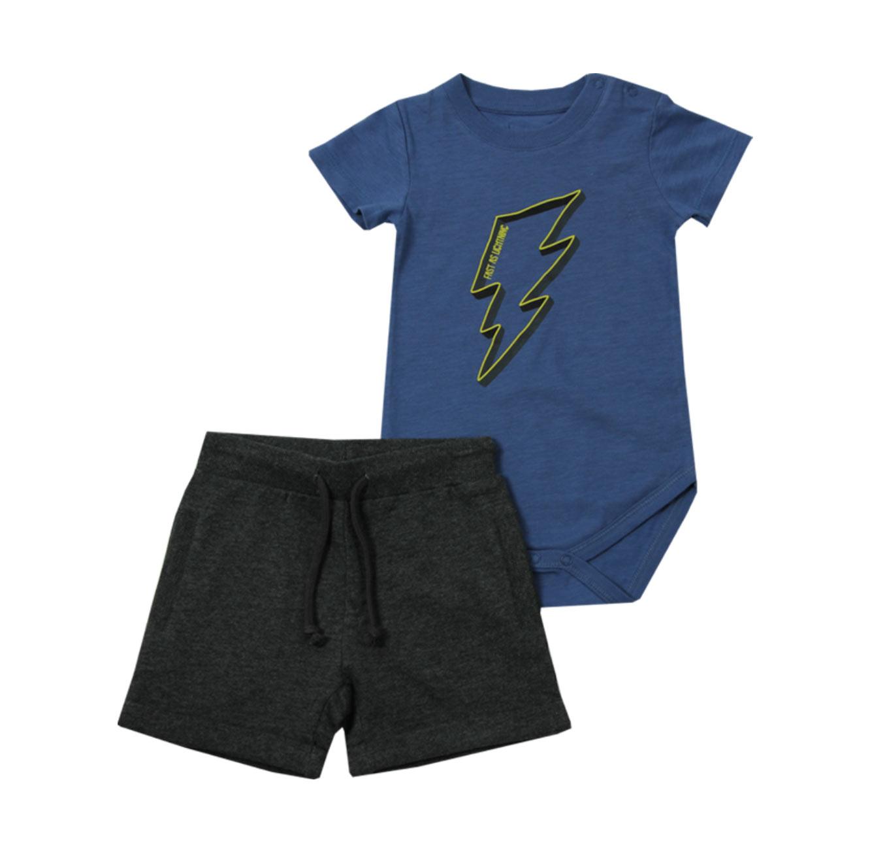 סט בגד גוף ומכנסיים Minene לתינוקות - כחול
