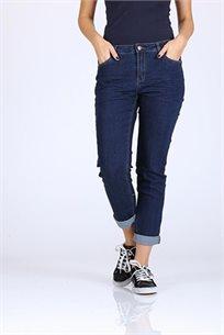 ג'ינס קלאסי כהה, עם קיפול -