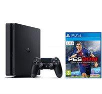 קונסולה Playstation 4 דגם SLIM בנפח 500GB כולל המשחק PES2018