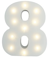 מנורת לילה עם תאורת לד LED מעוצבת בצורת הספרה 8