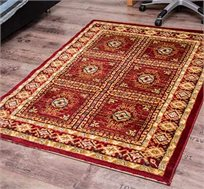 שטיח קילים ריבועים אדום לבית קל לניקוי