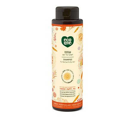 """שמפו טבעי לשיער רגיל עד יבש 500 מ""""ל"""