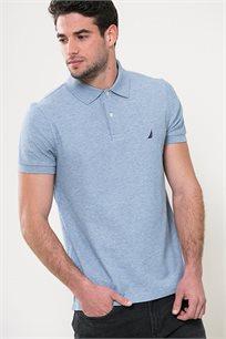 חולצת פולו לגברים - תכלת