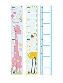 מד גובה לחדר ילדים ותינוקות עם איורים שמעוררים את הדמיון, עשוי מנייר פוטו מט 140 גרם בגודל 100*15