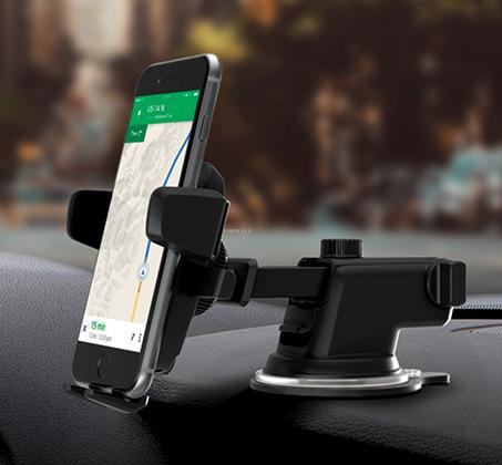 מעמד בעל זרוע טלסקופית לסמארטפונים ברכב