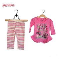 חליפות מעבר לבייבי בנות מבית ספירולינה, 100% כותנה, עם מגוון של דגמים לבחירה במידות 9-30
