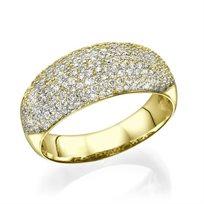 טבעת יהלומים 1.15 קראט מזהב לבן או צהוב לבחירה