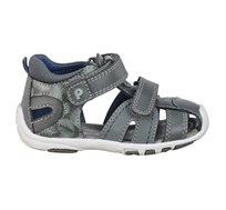 נעלי צעד ראשון Papaya לורי נוצות לבנים בצבע אפור