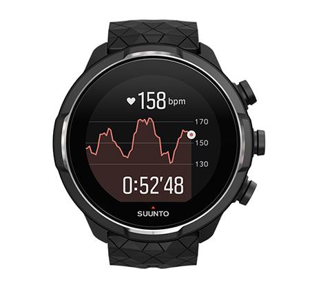 שעון עם דופק מובנה מפרק כף היד Suunto 9 Baro Titanium בצבע שחור - משלוח חינם - תמונה 2