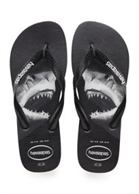 Havaianas גברים //  Top Photo Print Black/Grey