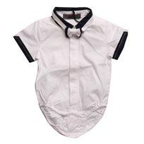 ORO אורו (18 חודשים- 3 שנים) בגד גוף מכופתר לבן