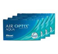 מארז 4 חבילות עדשות מגע חודשיות Air Optix Aqua למשך שנה אלקון