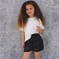 שורט Oro לילדות (2-7 שנים) שחור פייטים