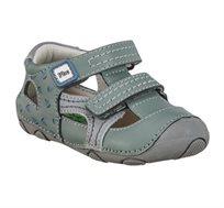 נעלי פעוטות צעד ראשון Papaya דגם סופטי סירות בצבע אפור
