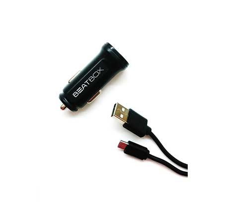 מטען מהיר לרכב + כבל  מיקרו USB, תומך בטכנולגיית QUALCOMM לטעינה מהירה יותר עד 75%