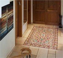 שטיח צמר בעבודת יד בסגנון אביבי במגוון גדלים לבחירה