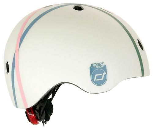 קסדה בטיחותית עם מנגנון התאמה לראש, תאורת LED אחורית וסוגר מגנטי - כחול - תמונה 2