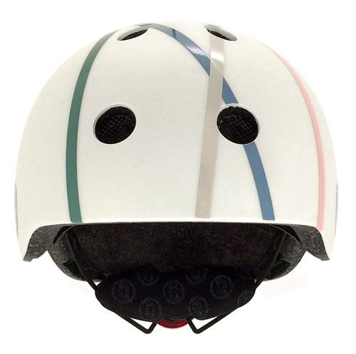 קסדה בטיחותית עם מנגנון התאמה לראש, תאורת LED אחורית וסוגר מגנטי - כחול - תמונה 3