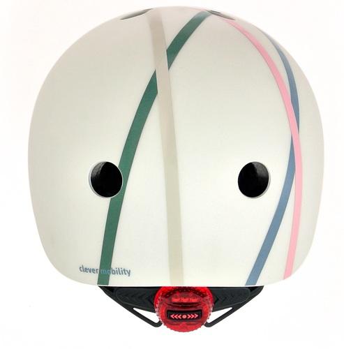 קסדה בטיחותית עם מנגנון התאמה לראש, תאורת LED אחורית וסוגר מגנטי - כחול - תמונה 4