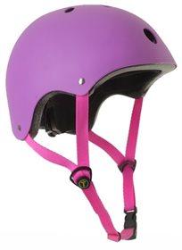 קסדה בטיחותית לפעוטות וילדים עם מנגנון התאמה לראש ו 11 פתחי איוורור מידה S סגול