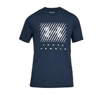 חולצת טישרט לגברים Under Armour SS19 UA BRANDED BIG LOGO SS בצבע כחול