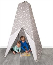 קיט אוהל משחק ופעילות - אפור חיות