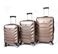 סט מזוודות קשיחות 3 גדלים Swiss במגוון צבעים לבחירה