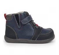 נעלי עור צעד ראשון דגם איאן לבנים - כחול