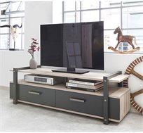 מזנון לטלוויזיה כולל 2 מגירות ומדפים דגם BROOKLYN