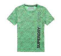 טישירט אימון לגברים SUPERDRY ACTIVE בצבע ירוק
