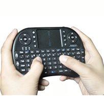 חדש! מקלדת מיני אלחוטית עם עכבר מגע מובנה, מתאים למחשבים, טלויזיות חכמות ומכשירי ANDROID