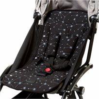 BABY MITMIT סט מפנק לעגלה- ריפודית וחבקים שחור Galaxy Collection