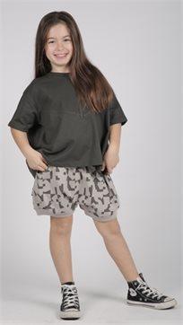 MAYAYA חולצת בנות (2-14 שנים) גופרית חלקה