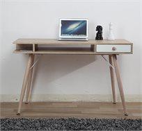 שולחן מחשב מעוצב עשוי עץ מתאים ללימודים ועבודה