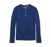 חולצת שרוול ארוך SUPERDRY Heritage Grandad לגברים - כחול