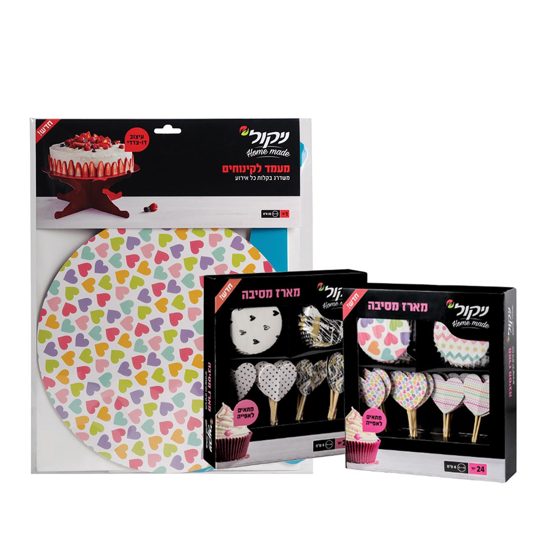 6 חבילות מגבות נייר גליל כפול 4 יחידות בחבילה, חזקות במיוחד ניקול + סט קינוחים מתנה - תמונה 2